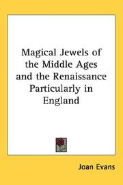 Cover of: Magical Jewels of the Middle Ages and the Renaissance Particularly in England
