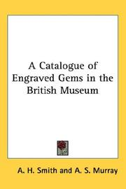 Cover of: A Catalogue of Engraved Gems in the British Museum
