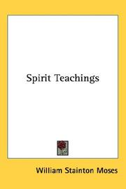 Cover of: Spirit Teachings | William Stainton Moses