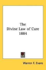 Cover of: The Divine Law of Cure 1884