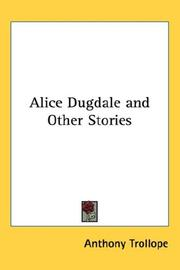 Cover of: Alice Dugdale and Other Stories