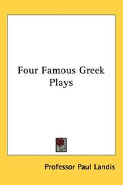 Cover of: Four Famous Greek Plays