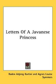 Cover of: Letters Of A Javanese Princess