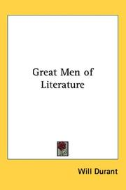 Cover of: Great Men of Literature