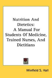 Cover of: Nutrition And Dietetics