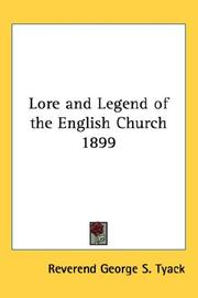Cover of: Lore and Legend of the English Church 1899