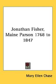 Cover of: Jonathan Fisher, Maine Parson 1768 to 1847