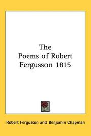 Cover of: The Poems of Robert Fergusson 1815