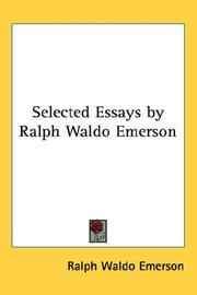 Cover of: Selected Essays by Ralph Waldo Emerson | Ralph Waldo Emerson