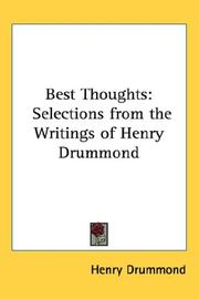 Cover of: Best Thoughts | Henry Drummond