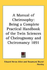 Cover of: A Manual of Cheirosophy