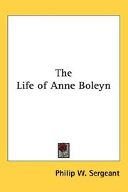 Cover of: The Life of Anne Boleyn