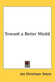 Cover of: Toward a Better World