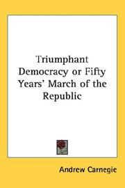 Cover of: Triumphant Democracy or Fifty Years