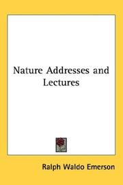 Nature Addresses and Lectures