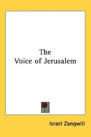 Cover of: The Voice of Jerusalem | Israel Zangwill