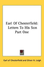 Cover of: Earl Of Chesterfield