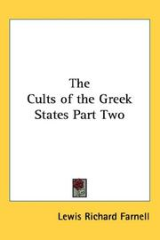 Cover of: The Cults of the Greek States Part Two