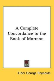 Cover of: A Complete Concordance to the Book of Mormon