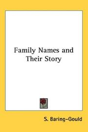 Cover of: Family names and their story