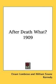 Cover of: After Death What? 1909