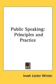 Cover of: Public Speaking | Irvah Lester Winter
