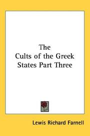Cover of: The Cults of the Greek States Part Three
