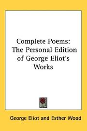 Cover of: Complete Poems | George Eliot