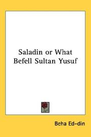 Cover of: Saladin Or What Befell Sultan Yusuf