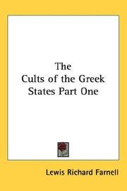 Cover of: The Cults of the Greek States Part One