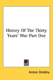 Cover of: History Of The Thirty Years' War Part One