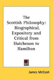 Cover of: The Scottish Philosophy | James McCosh