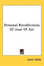 Cover of: Personal Recollections Of Joan Of Arc