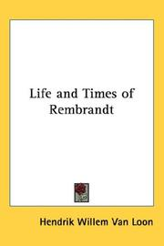 Cover of: Life And Times of Rembrandt