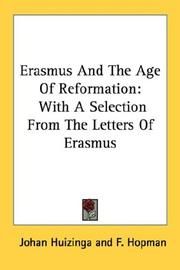 Cover of: Erasmus And The Age Of Reformation | Johan Huizinga