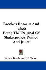 Romeus and Juliet by Arthur Brooke
