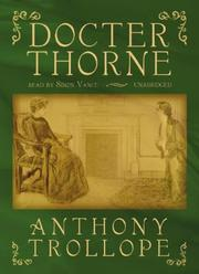 Cover of: Doctor Thorne | Anthony Trollope