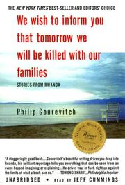 Cover of: We Wish to Inform You That Tomorrow We Will Be Killed with Our Families |