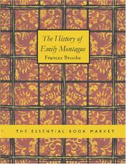 Cover of: The History of Emily Montague (Large Print Edition) | Frances Brooke