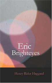 Cover of: Eric Brighteyes | H. Rider Haggard