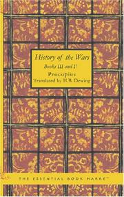 Cover of: History of the Wars, Books III and IV | Procopius