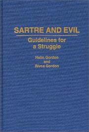 Cover of: Sartre and evil