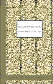 Cover of: A Memoir of Jane Austen | James Edward Austen-Leigh