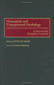 Cover of: Humanistic and Transpersonal Psychology | Donald Moss