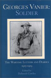 Cover of: Georges Vanier, soldier
