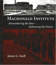 Cover of: Macdonald Institute | James Snell