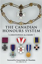 Cover of: The Canadian Honours System | Christopher McCreery