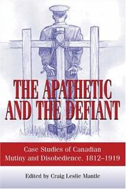 Cover of: The Apathetic and the Defiant | Craig L. Mantle