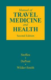 Cover of: Manual of travel medicine and health | Robert Steffen
