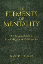 Cover of: Elements of mentality